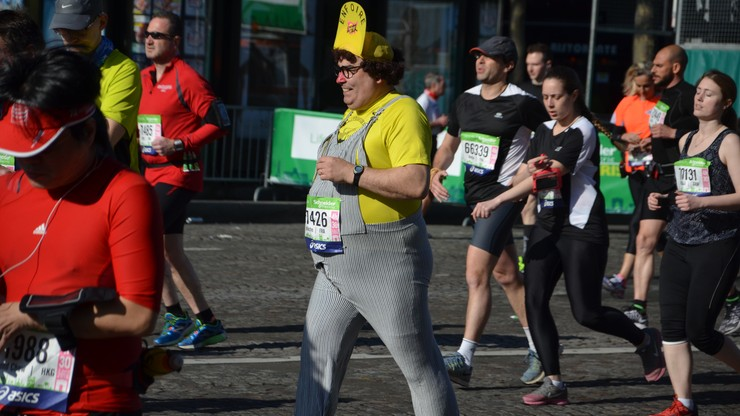 Maraton w Paryżu w obiektywie użytkownika polsatnews.pl