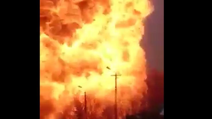 Wybuchy na stacji benzynowej w Topólce. Eksplodowały zbiorniki i butle z gazem