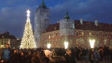 2017-12-09 Warszawa zapaliła świąteczną iluminację. 680 kilometrów ledów