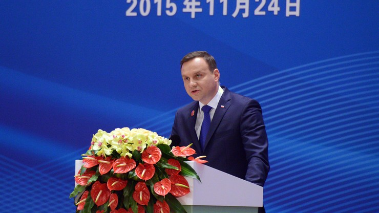 Prezydent Duda przybył do Pekinu. Spotka się z prezydentem Chin