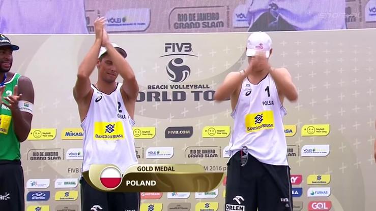 Polacy odbierają złote medale w Rio. Dekoracja Kantora i Łosiaka