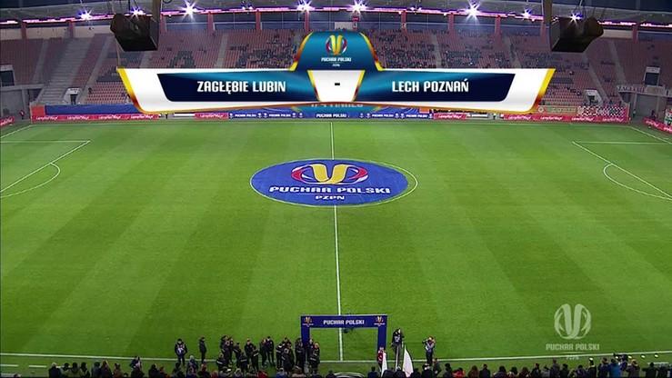 Puchar Polski: Zagłębie Lubin - Lech Poznań 0:1. Skrót meczu