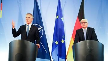 02-09-2016 11:29 Szef NATO popiera proponowane przez Niemcy rozmowy o kontroli zbrojeń