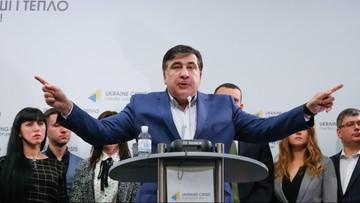 """11-11-2016 17:48 Ukraina: Saakaszwili chce wymienić """"elity"""". Tworzy nową partię"""