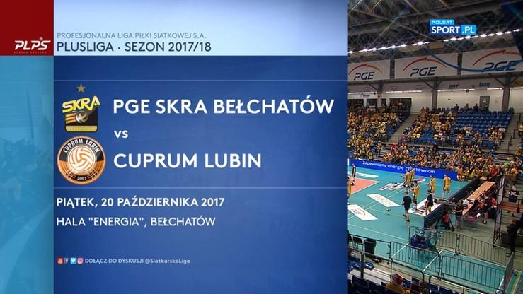 PGE Skra Bełchatów - Cuprum Lubin 3:0. Skrót meczu