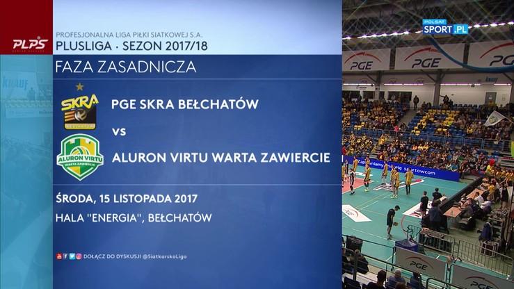 PGE Skra Bełchatów - Aluron Virtu Warta Zawiercie 3:0. Skrót meczu