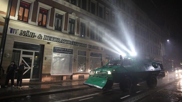 Zamieszki w Lipsku podczas demonstracji przeciwników imigracji
