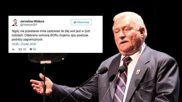 Jarosław Wałęsa: ojcu odebrano ochronę BOR podczas podróży zagranicznych. BOR odpowiada: to generowało ogromne koszty