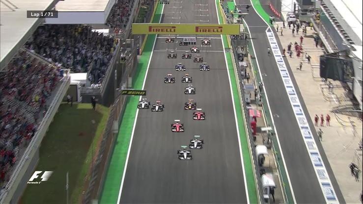 Walka Mercedesów na starcie GP Brazylii