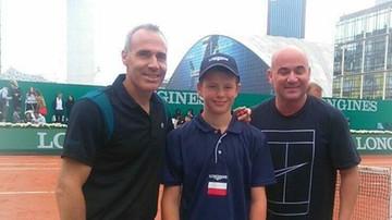 2017-06-03 Dwunastolatek z Polski wygrał prestiżowy turniej tenisowy w Paryżu