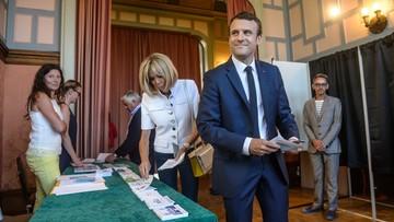 11-06-2017 21:19 Partia Macrona i MoDem wygrywają wybory parlamentarne we Francji