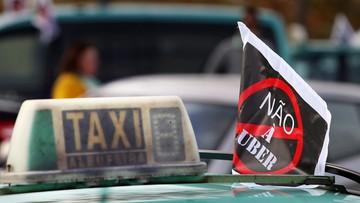 "29-04-2016 18:38 ""Uber do domu"". Protest portugalskich taksówkarzy"
