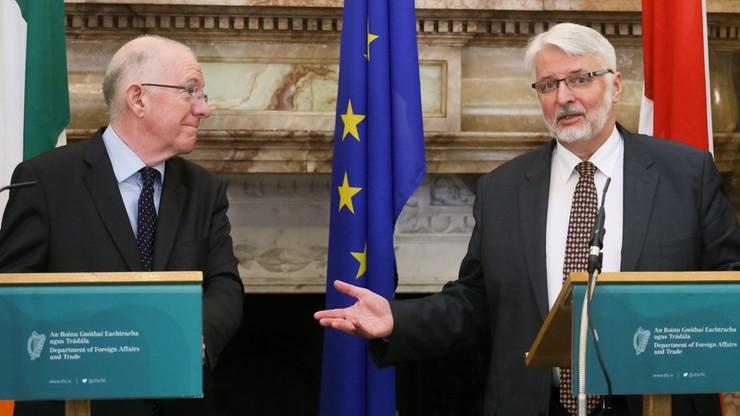 Waszczykowski i szef MSZ Irlandii rozmawiali o sytuacji Polaków i Brexicie