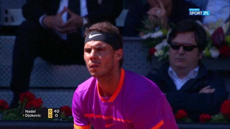 ATP w Madrycie: Nadal - Djokovic. Skrót meczu półfinałowego