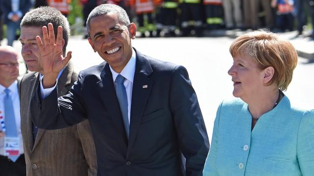 Obama i Merkel spotkali się przed szczytem G7 w Bawarii