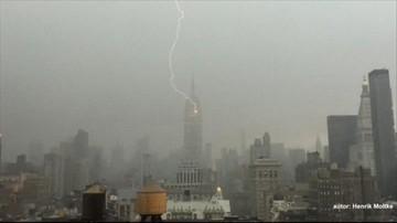 27-07-2016 12:09 Piorun uderzył w Empire State Building. Zobacz wideo