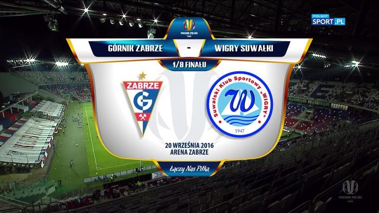 Puchar Polski: Górnik Zabrze - Wigry Suwałki 0:2. Skrót meczu