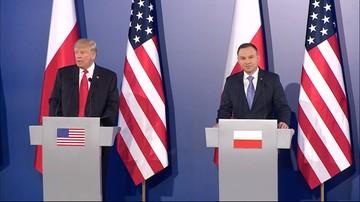 """06-07-2017 10:11 """"Wraz z Polską wypracowujemy reakcję na działanie Rosji"""". Po spotkaniu Dudy z Trumpem"""