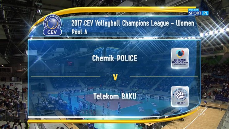 Chemik Police - Telekom Baku 3:1. Skrót meczu