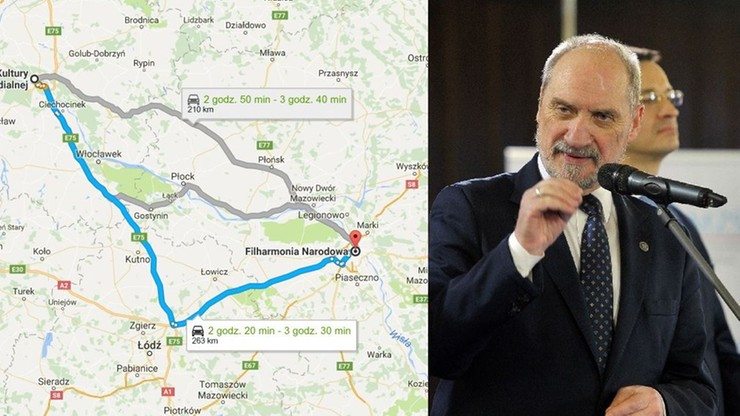 Jak szybko jechał Macierewicz - Platforma chce poznać zapisy z czarnych skrzynek limuzyn