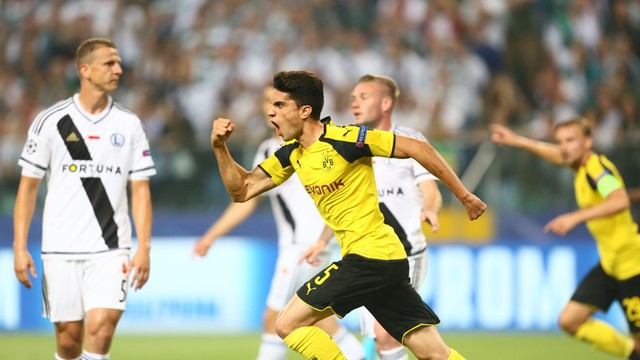 Liga Mistrzów: po pierwszej połowie Legia przegrywa 0:3 z Borussią