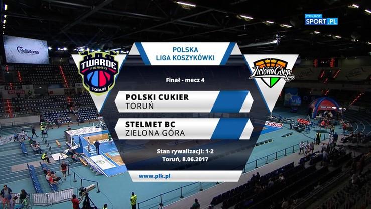 Polski Cukier Toruń - Stelmet BC Zielona Góra 78:81. Skrót meczu