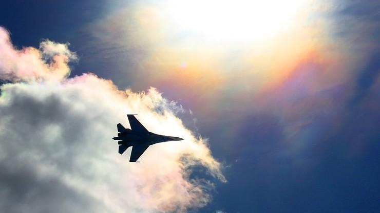 Pod Moskwą rozbił się myśliwiec Su-27; pilot zginął