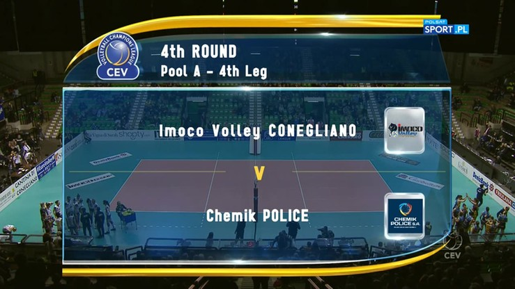 Imoco Volley Conegliano - Chemik Police 2:3. Skrót meczu