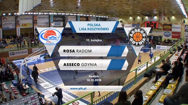 Rosa Radom - Asseco Gdynia 70:67. Skrót meczu