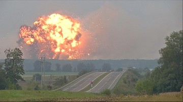 27-09-2017 11:37 Pożar składów amunicji na Ukrainie. Ewakuowano 30 tys. ludzi