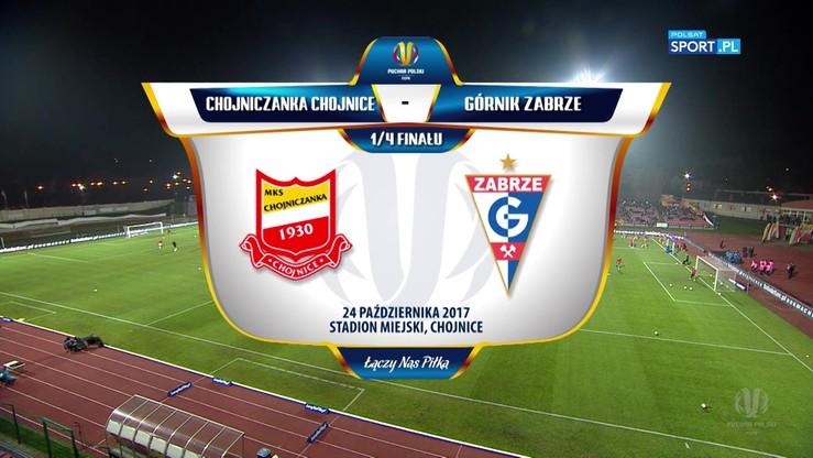 Chojniczanka - Górnik Zabrze 1:3. Skrót meczu