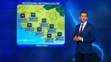 Orkan Tomasz szaleje nad Polską. Po silnym wietrze - deszcz i śnieg