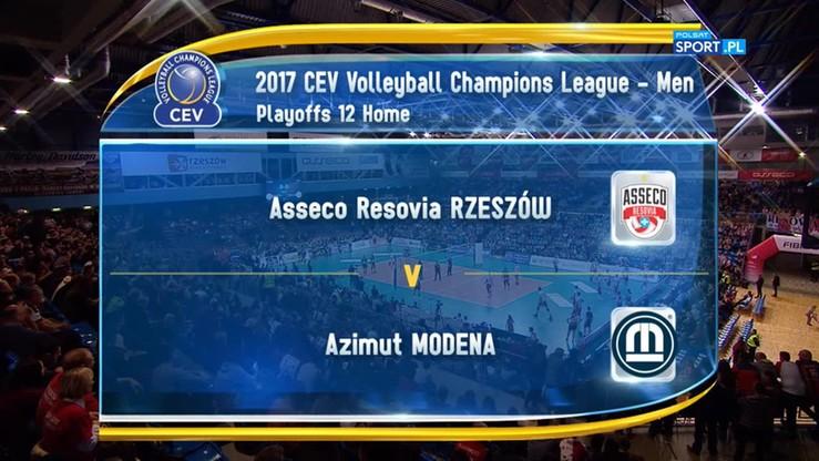 Asseco Resovia Rzeszów – Azimut Modena 2:3. Skrót meczu