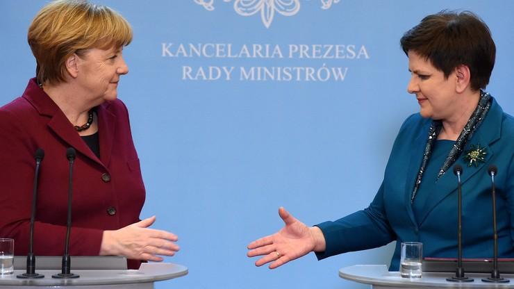 Berlin-Warszawa wspólna sprawa. Rosyjskie media o antymoskiewskiej retoryce podczas wizyty Merkel