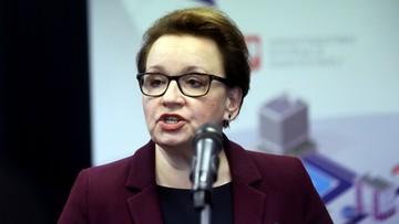 14-11-2016 15:50 Zalewska: reforma edukacji nie zostanie przesunięta