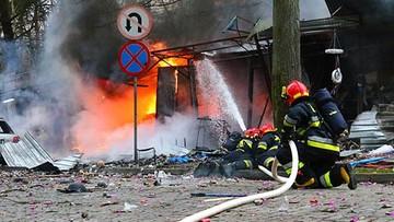 27-12-2015 15:21 Potężna eksplozja w Świnoujściu. Spłonęło stoisko z fajerwerkami