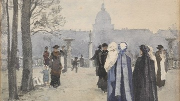 """Zobaczyć paryżan spacerujących w Ogrodzie Luksemburskim. """"Bezcenne. Nabytki Muzeum Narodowego"""""""