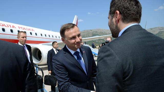 Prezydent Duda z wizytą w Chorwacji