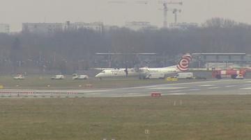 Bombardier odholowany z pasa lotniska Chopina. LOT zapowiada kontrole wszystkich maszyn tego typu