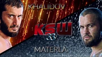 2015-11-01 KSW 33: Khalidov vs Materla. Oficjalna zapowiedź (WIDEO)