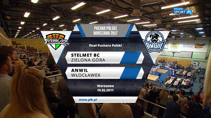 Stelmet BC Zielona Góra – Anwil Włocławek 79:57. Skrót finału Pucharu Polski