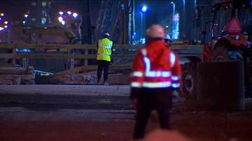 Na budowie stacji metra osunęła się ściana wykopu. Zginął operator koparki