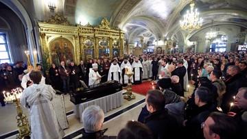 14-01-2017 17:55 Pogrzeb dyrektora słynnego chóru Aleksandrowa. Zginął w katastrofie Tu-154