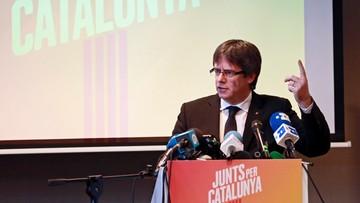 """25-11-2017 18:17 Puigdemont zaprezentował listę wyborczą Razem dla Katalonii. """"Posiadamy zdolność utworzenia niepodległego państwa"""""""