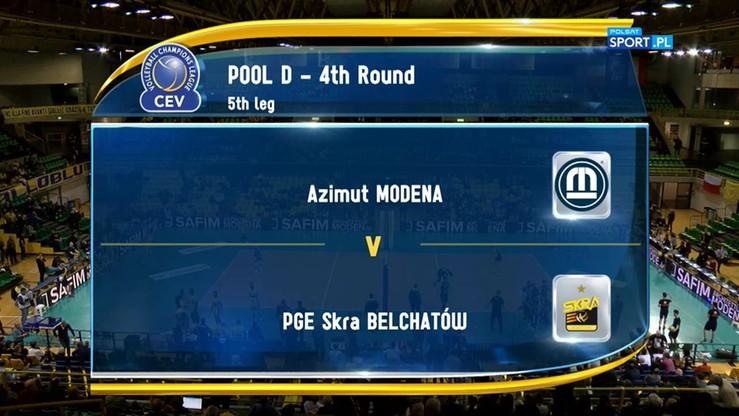 Azimut Modena - PGE Skra Bełchatów 3:1. Skrót meczu