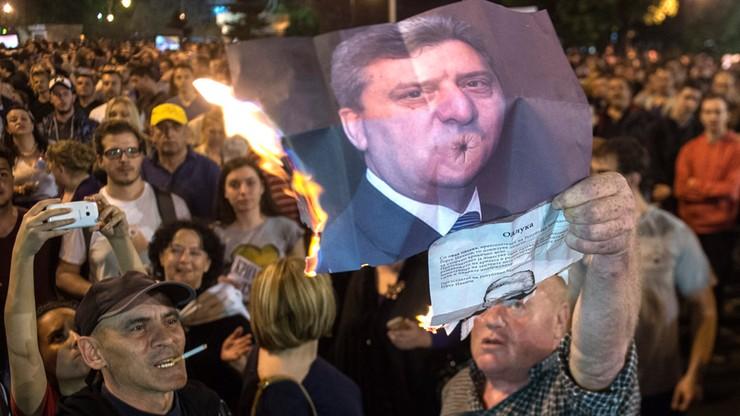 Macedończycy protestowali przeciwko amnestii. Starcia z policją