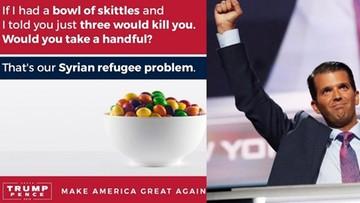 """20-09-2016 12:53 """"Uchodźcy z Syrii są jak cukierki Skittles"""". Tak twierdzi syn Trumpa"""