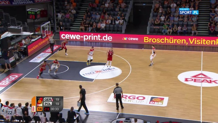 Polska - Niemcy 61:80. Skrót meczu
