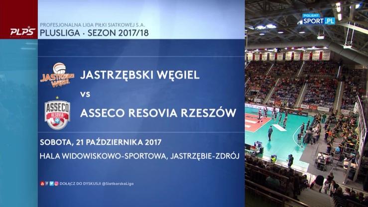 Jastrzębski Węgiel - Asseco Resovia 2:3. Skrót meczu