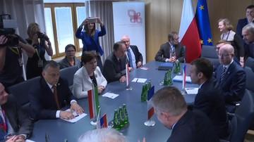 2017-06-23 Spotkanie prezydenta Francji z Grupą Wyszehradzką